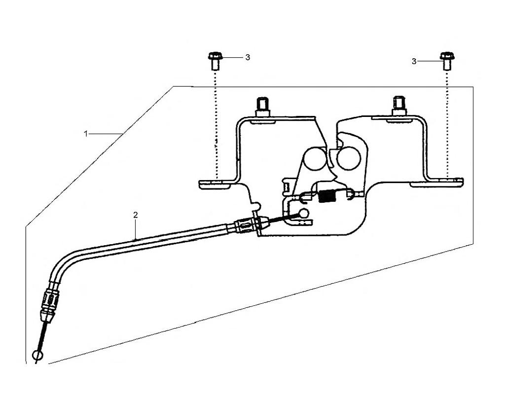02 Seat Lock Cable - HD 200 Evo