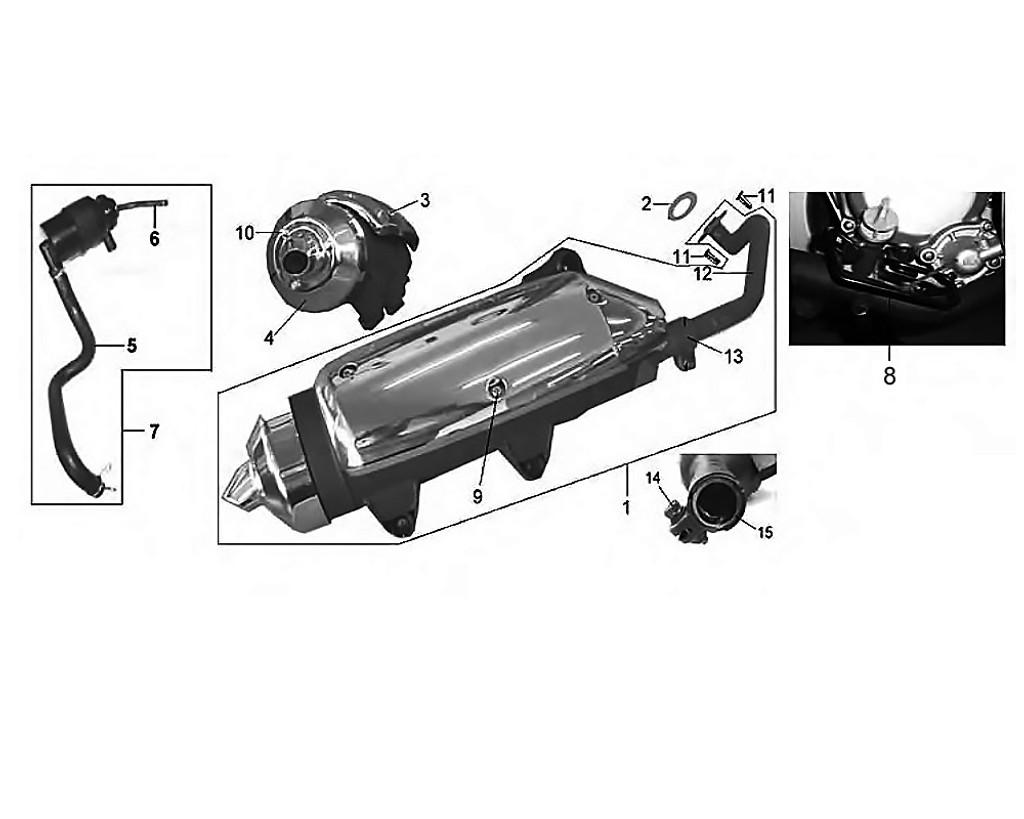 02 Exhaust Pipe Gasket - HD 200 Evo