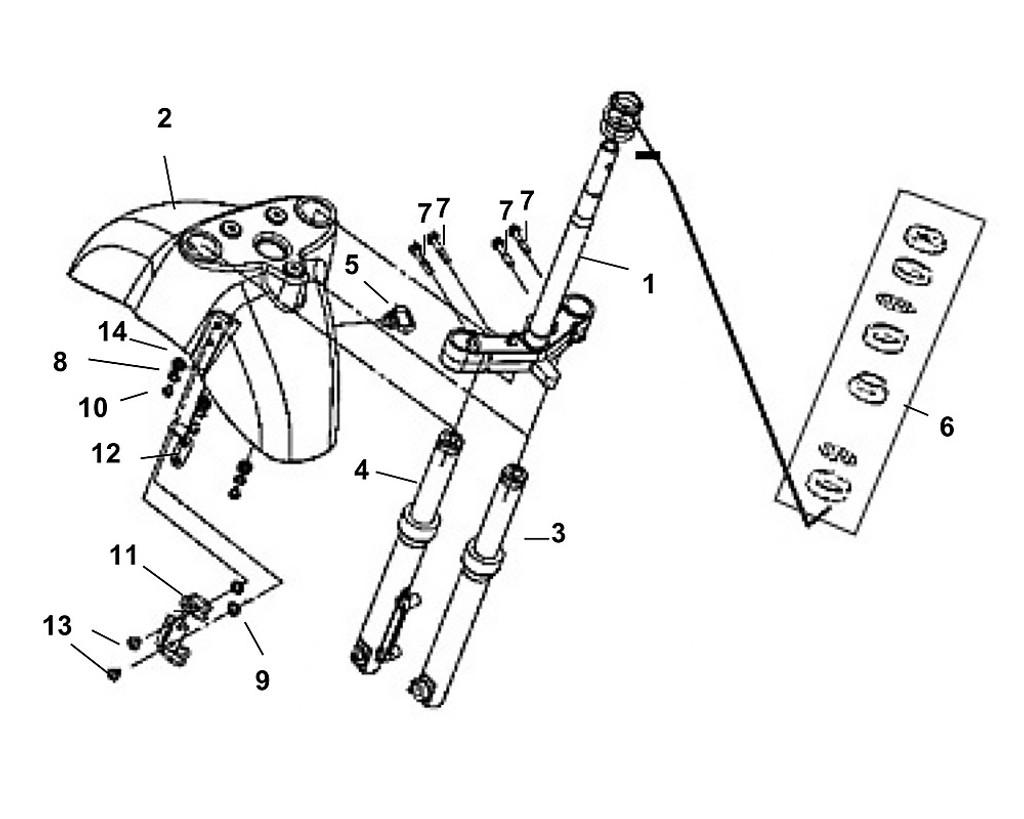 11 FR. Brake Hose Clamp - Fiddle III