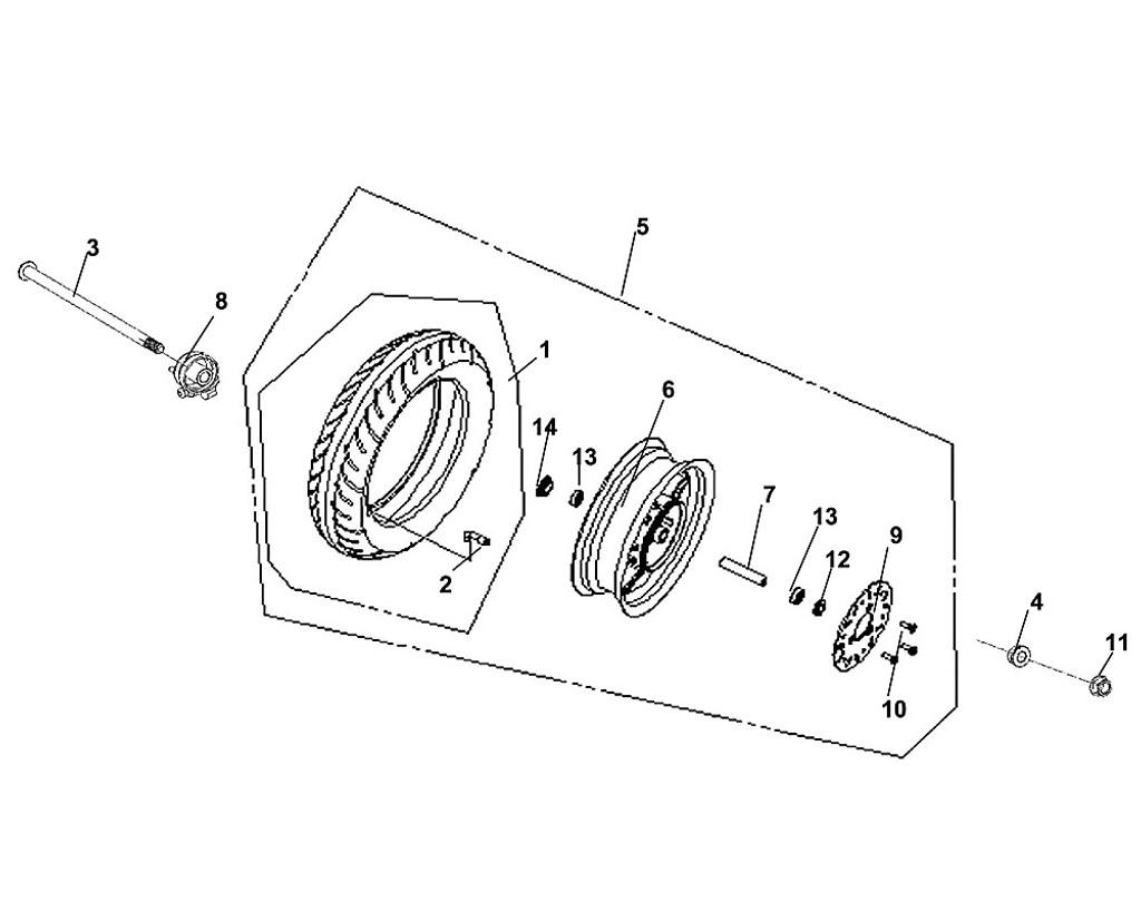 01 Tire ASS'Y (110/70-12) - Fiddle III