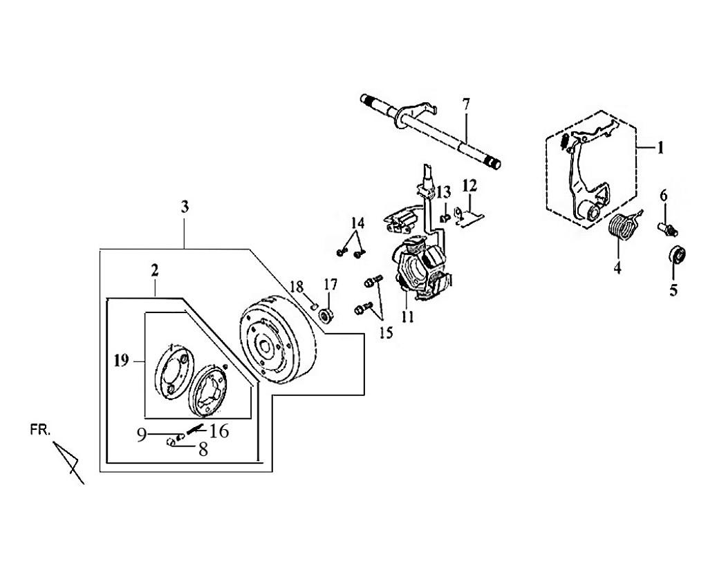 01-GEAR SHIFT ARM COMP - Symba 100