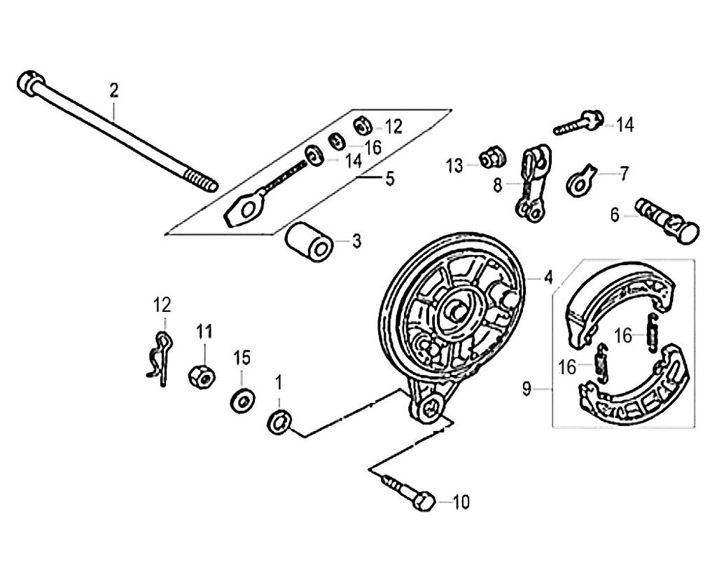 08-RR. BRAKE ARM - Symba 100