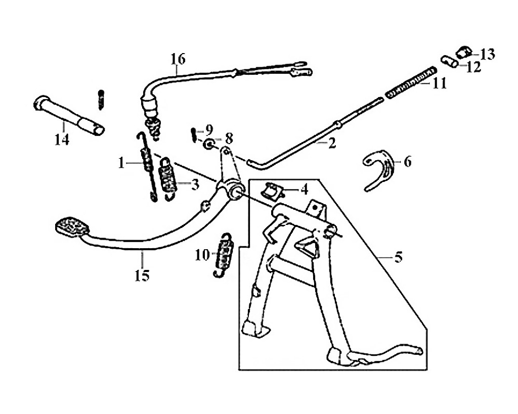 15-RR. BRAKE PEDAL COMP - Symba 100