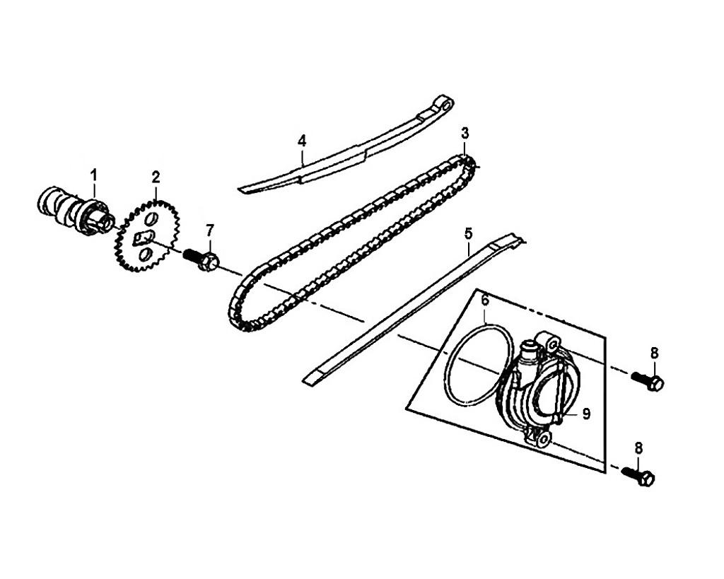04-Cam chain tensioner - Mio50 2019
