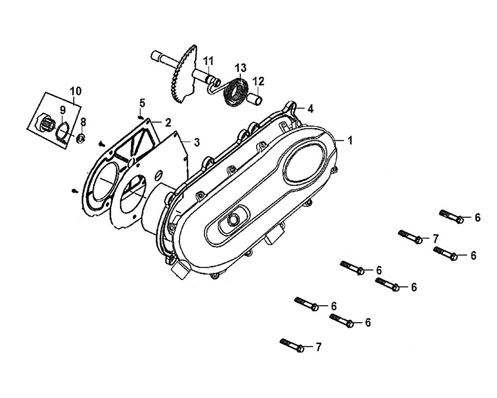 03-L. cover plate gasket  - Mio50 2019