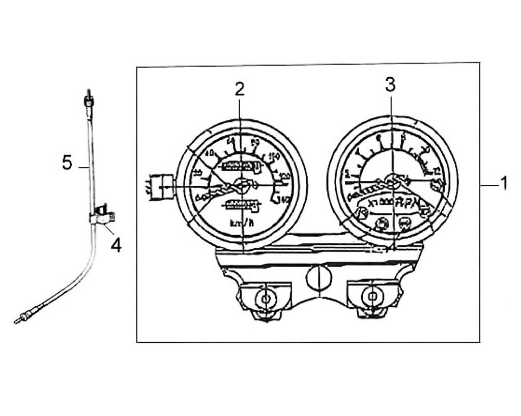 03 Tachometer - Wolf Classic 150