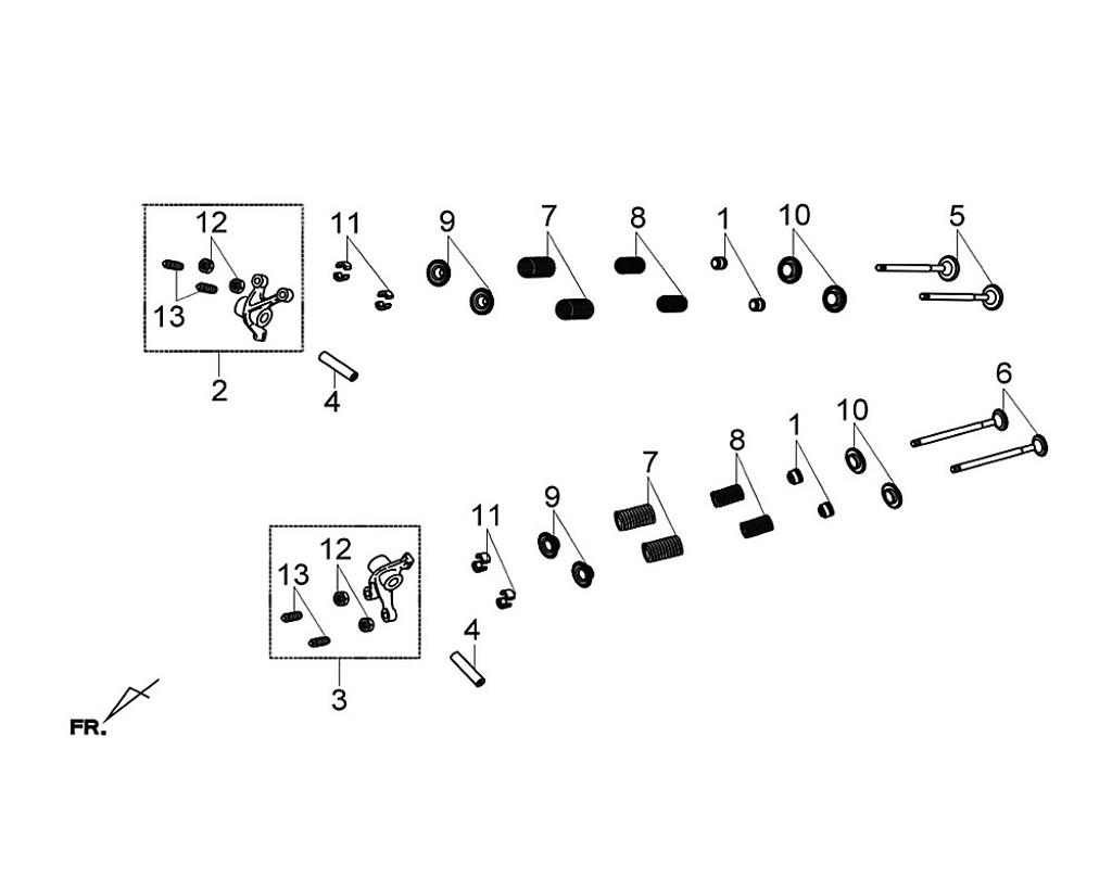 11 Valve Cotter Set (1set/4pcs) - Citycom S 300i