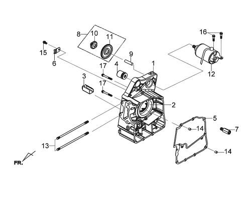 01 R. Crank Case Comp - Citycom S 300i