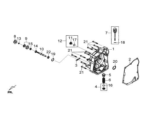 02 R. Crank Case Cover Gasket - Citycom S 300i