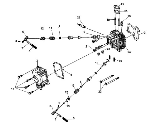 08 EXH. Rocker Arm Shaft - Fiddle III