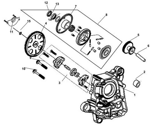 04 Oil Pump Driven Gear - Fiddle III