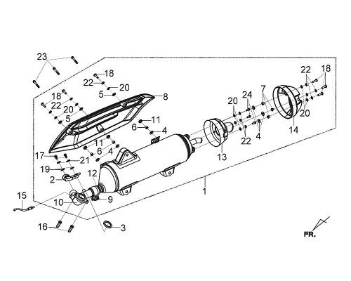 12 Muffler Band 40.1mm - Citycom S 300i