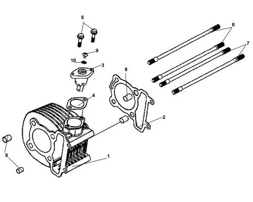 06 Cylinder Stud Bolt A - Fiddle III