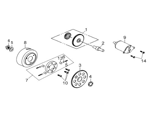 03 Starting Clutch Gear Comp - HD 200 Evo