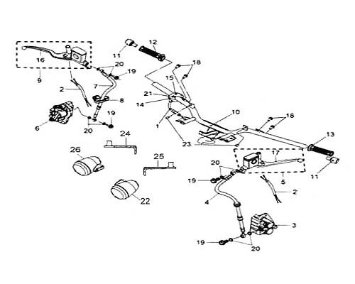 06-1 Front Brake Pad Set - HD 200 Evo