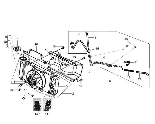 02 Radiator Shroud Assy - HD 200 Evo