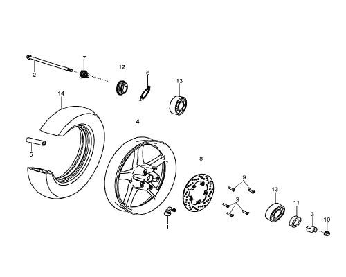 04 Fr. Cast Wheel Comp - HD 200 Evo