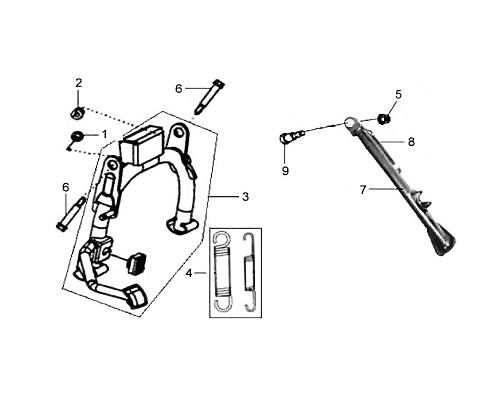 09 Side Stand Pivot Screw - HD 200 Evo