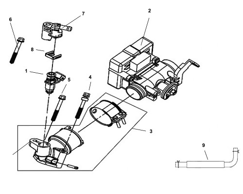 07 Fuel Injector Cap ASSY - Fiddle III