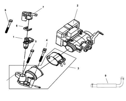 08 Fuel Injector Cap Clip - Fiddle III