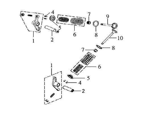 02-IN VALVE ROCKER ARM SHAFT - Symba 100