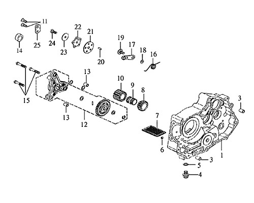 19-STOPPER ARM PIVOT BOLT - Symba 100