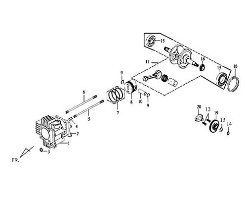 16-L CRANK CASE BUSH 62MM - Symba 100