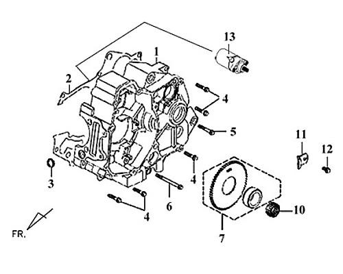 02-CRANK CASE GASKET - Symba 100