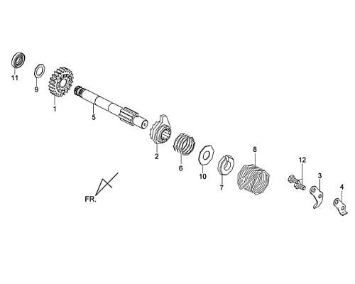 06-KICK SPINDLE BUSH - Symba 100