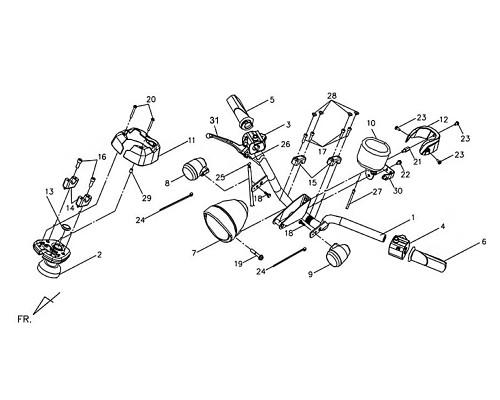 01-L HANDLE GRIP BK-001U - Symba 100
