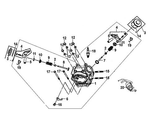 08-Exhaust valve  - Mio50 2019