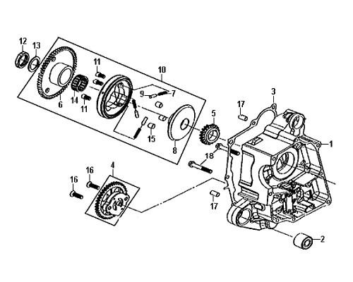 09-Flat screw 6X25  - Mio50 2019