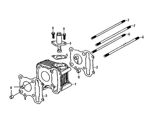 07-Cylinder stud bolt B  - Mio50 2019