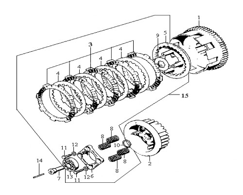 03 Clutch Friction Disk - Wolf Classic 150