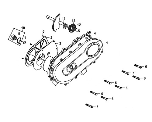 10-Kick driven gear ASSY.  - Mio50 2019