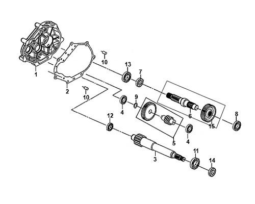 04-Ball radial bearing 6201  - Mio50 2019