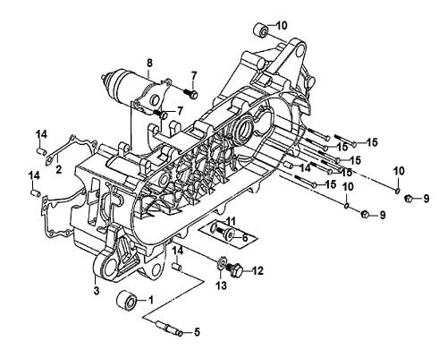 06-Cam chain tensioner pivot  - Mio50 2019