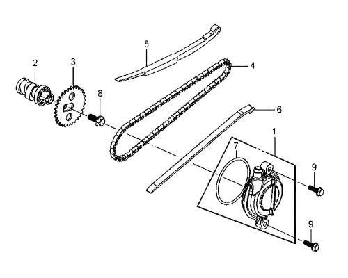 06 Cam Chain Guide - Mio 50
