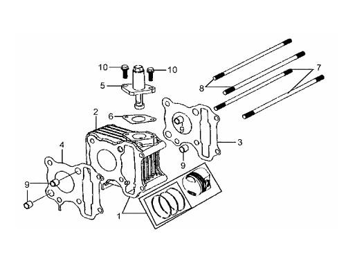 04 Cylinder Head Gasket - Mio 50