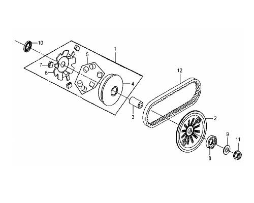 05 Weight Roller Comp (6pcs/1set) - Mio 50