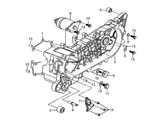 02 L. Crank Case Comp - Mio 50