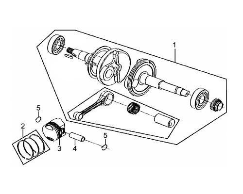 01 Crank Shaft Comp - Mio 50