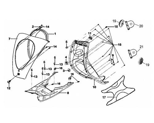 21 Lh. Side Reflex Reflector Brkt - Mio 50