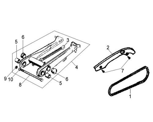 04 Rr.fork Assy. BK-001C - Wolf Classic 150