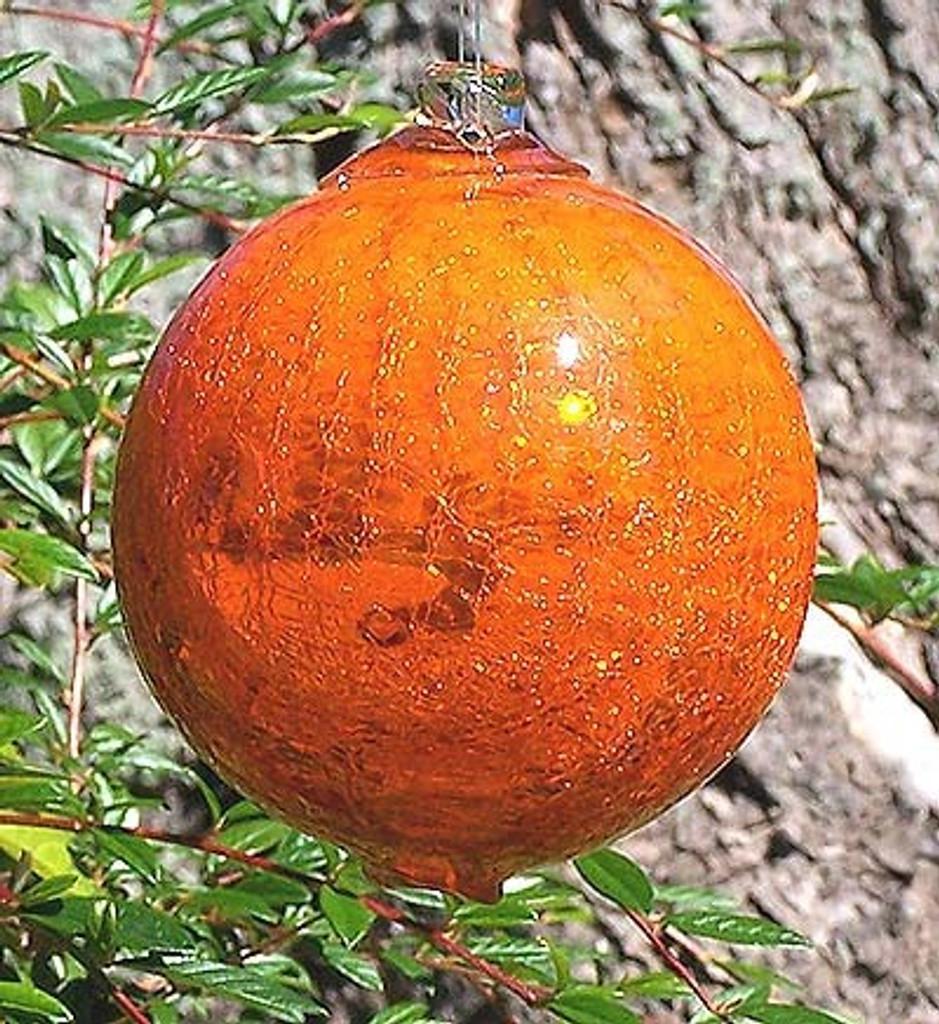 Bright Orange Mirrored Crackle