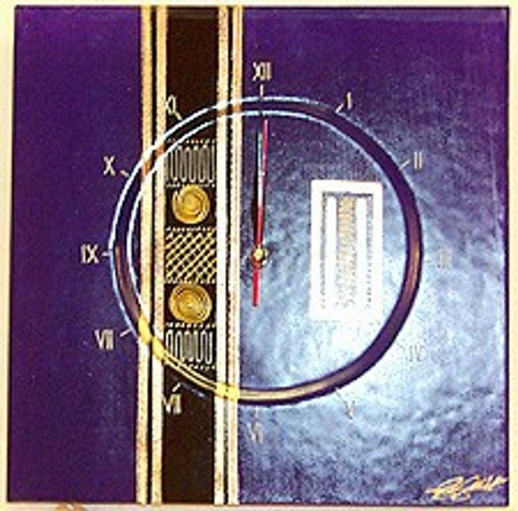 Purple Egyptian Clock