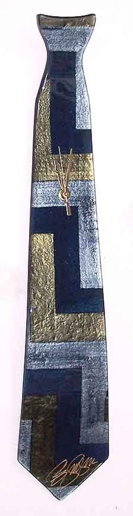 """Arciform NeckTie Billet Clock """"Z"""" Blue"""