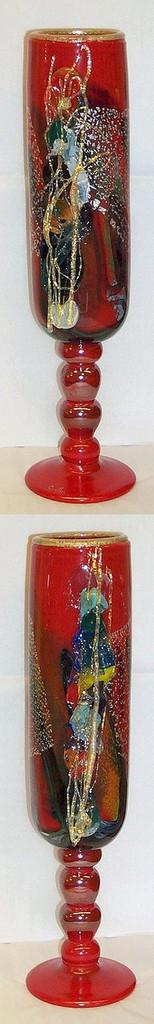 Tall Goblet Art Glass Vase