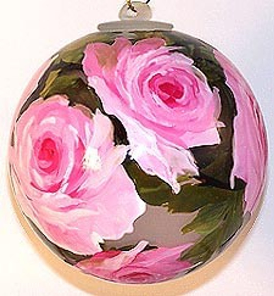 Pink Roses  4 Inch Ornament