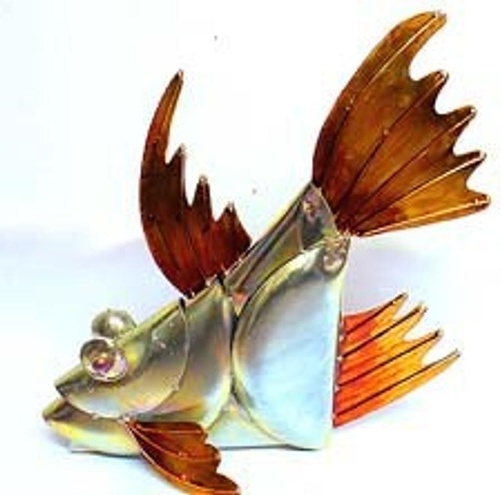 Galvanized 3D Stone Fish